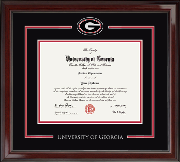 The University Of Georgia Diploma Frames Church Hill Classics