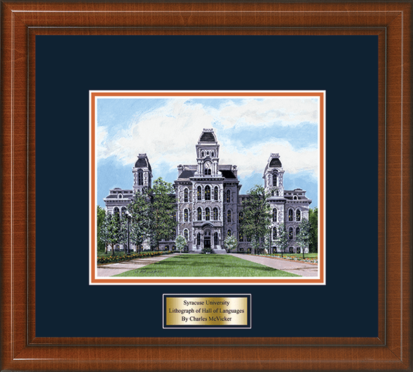 Framed Lithograph of Hall of Languages in Prescott