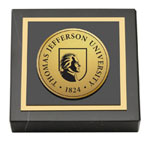 Thomas Jefferson University Paperweight - Gold Engraved Seal Medallion Paperweight