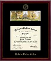 Baldwin-Wallace College Diploma Frame - Campus Scene Diploma Frame in Galleria