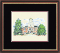 Bloomsburg University Diploma Frame - Framed Lithograph in Williamsburg