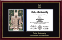 Duke University Diploma Frame - Campus Scene Diploma Frame in Gallery
