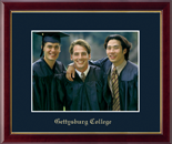 Gettysburg College Photo Frame - Gold Embossed Photo Frame in Galleria
