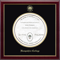Hampshire College Diploma Frame - Gold Embossed Diploma Frame in Gallery