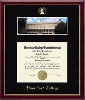 Haverford College Diploma Frame - Campus Scene Diploma Frame in Galleria