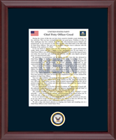 United States Navy Framed Print - The Chief Petty Officer's Creed Frame in Cambridge