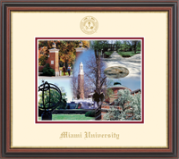 Miami University Lithograph Frame - Gold Embossed Lithograph Frame in Regency Gold