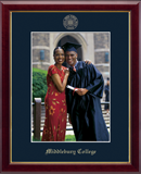 Middlebury College Photo Frame - Gold Embossed Photo Frame in Galleria