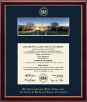 Pennsylvania State University Diploma Frame - Campus Scene Diploma Frame - Old Main in Galleria