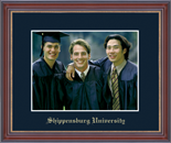 Shippensburg University Photo Frame - Embossed Photo Frame in Kensit Gold