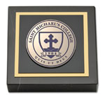 Saint Michael's College Paperweight - Masterpiece Medallion Paperweight