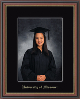 University of Missouri Columbia Photo Frame - Gold Embossed Photo Frame in Williamsburg