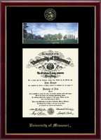 University of Missouri Columbia Diploma Frame - Campus Scene Diploma Frame in Galleria