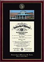 University of Missouri Saint Louis Diploma Frame - Campus Scene Diploma Frame in Galleria