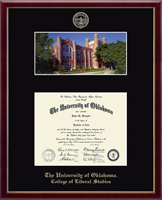The University of Oklahoma Diploma Frame - Campus Scene Edition Diploma Frame in Galleria