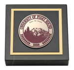 University of Puget Sound Paperweight - Masterpiece Medallion Paperweight
