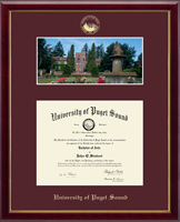 University of Puget Sound Diploma Frame - Campus Scene Diploma Frame in Galleria