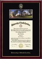 University of South Carolina Diploma Frame - Campus Scene Edition Diploma Frame in Galleria