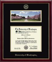 University of Washington Diploma Frame - Campus Scene Edition Diploma Frame in Galleria