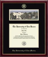 The University of New Mexico Diploma Frame - Campus Scene Diploma Frame in Galleria
