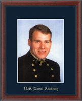 United States Naval Academy Photo Frame - Gold Embossed Photo Frame in Signet