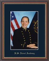 United States Naval Academy Photo Frame - Gold Embossed Photo Frame in Williamsburg