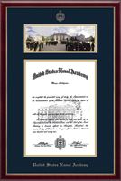 United States Naval Academy Diploma Frame - Campus Scene Diploma Frame - Bancroft Hall in Galleria