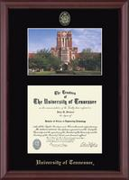 The University of Tennessee Knoxville Diploma Frame - Campus Scene Diploma Frame in Camby
