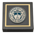 University of Texas at El Paso Paperweight - Masterpiece Medallion Paperweight