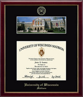 University of Wisconsin Madison Diploma Frame - Campus Scene Diploma Frame in Galleria