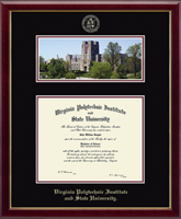 Virginia Polytechnic Institute and State University Diploma Frame - Campus Scene Edition Diploma Frame in Galleria
