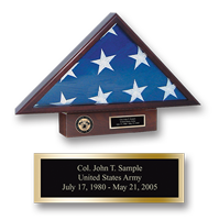 United States Military Academy Flag Case  - Masterpiece Medallion Memorial Flag Case