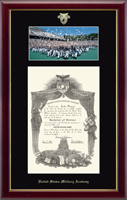 United States Military Academy Diploma Frame - Hat Toss Campus Scene Diploma Frame in Gallery