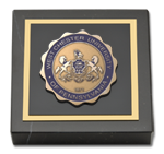 West Chester University Paperweight - Masterpiece Medallion Paperweight