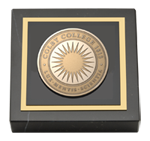 Colby College Paperweight - Brass Masterpiece Medallion Paperweight