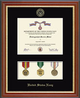 United States Navy Certificate Frame - Medal Display Certificate Frame in Newport