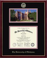 The University of Oklahoma Diploma Frame - Campus Scene Diploma Frame in Galleria