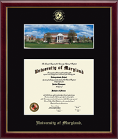 University of Maryland, College Park Diploma Frame - McKeldin Library - Campus Scene Diploma Frame in Galleria