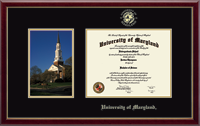 University of Maryland, College Park Diploma Frame - Memorial Chapel - Campus Scene Diploma Frame in Galleria