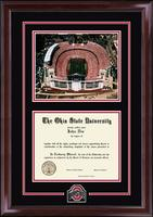 The Ohio State University Diploma Frame - Spirit Stadium Edition Diploma Frame in Encore