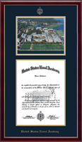 United States Naval Academy Diploma Frame - Campus Scene Diploma Frame - Aerial View in Galleria