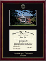 University of Louisiana Lafayette Diploma Frame - Campus Scene Diploma Frame in Galleria