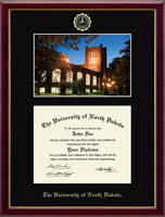 University of North Dakota Diploma Frame - Campus Scene Diploma Frame in Galleria
