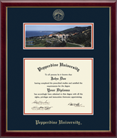 Pepperdine University Diploma Frame - Campus Scene Diploma Frame in Galleria