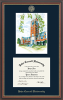 John Carroll University Diploma Frame - Litho Diploma Frame in Williamsburg