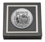 Dartmouth College Paperweight - Silver Engraved Medallion Paperweight