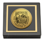 Dartmouth College Paperweight - Gold Engraved Medallion Paperweight