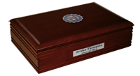 University of St. Thomas Desk Box - Pewter Masterpiece Medallion Desk Box