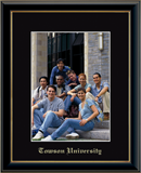 Towson University Photo Frame - Embossed Photo Frame in Onexa Gold