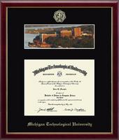 Michigan Technological University Diploma Frame - Campus Scene Diploma Frame in Galleria
